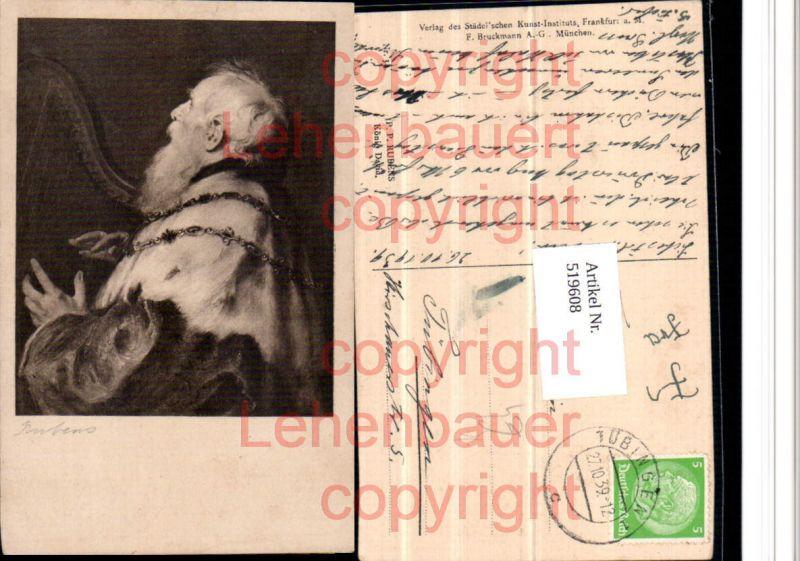 Künstler AK P.P. Rubens König David Portrait Harfe