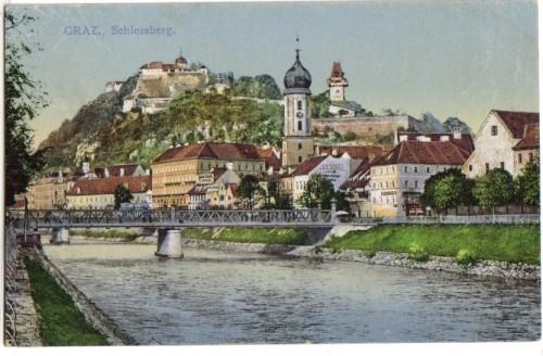 11132;Graz Partie zum Schlossberg Mur