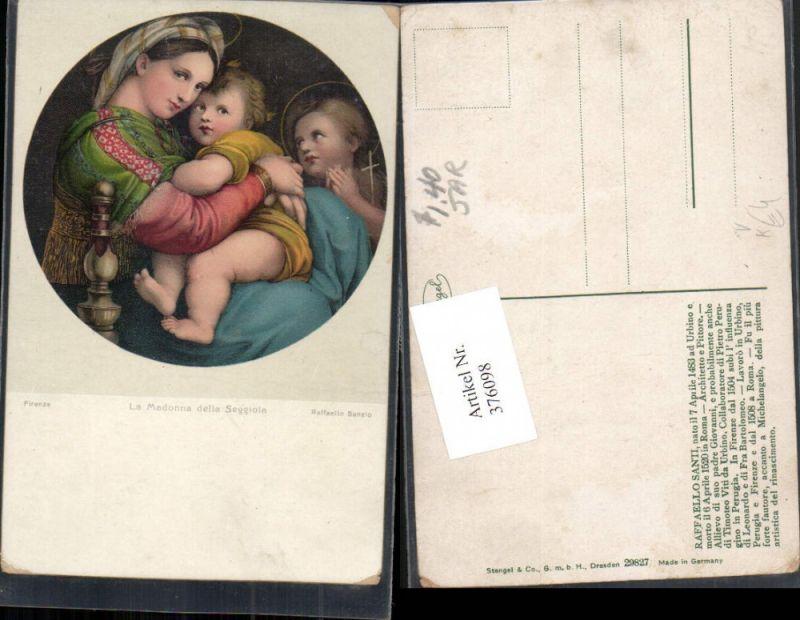Stengel Co 29827 Künstler Raffaello Santi La Madonna della Seggiola Maria