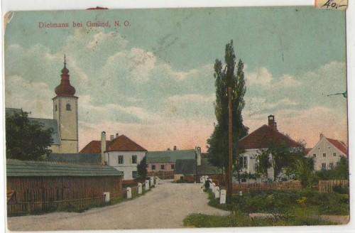 Dietmans bei Gmünd Top Strassenpartie 1907 COLOR