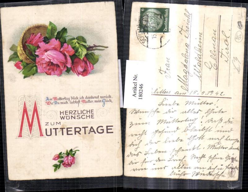 Muttertag Rosen Korb Rosenblüte Gedicht