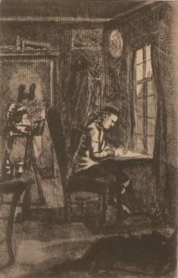 27838;F.A. Ackermann ser 148-1777 Goethe im Arbeitszimm