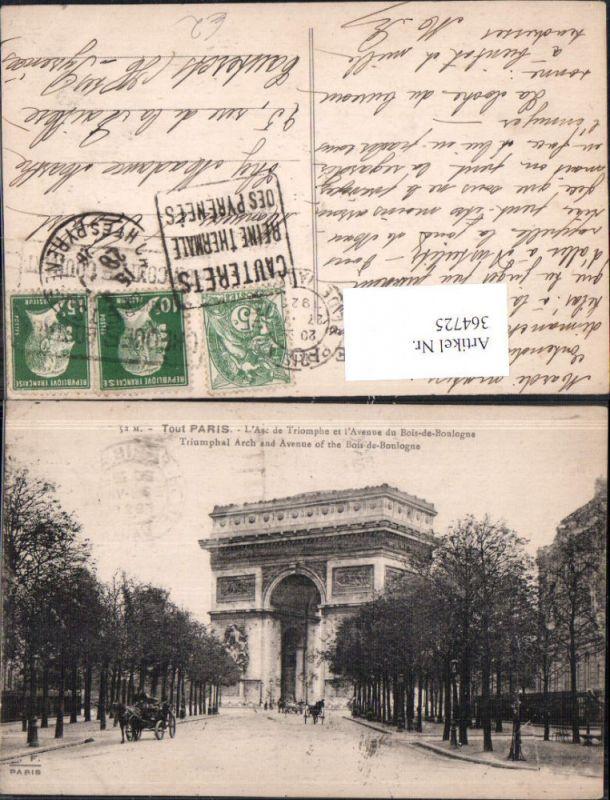 Tout Paris L Arc de Triomphe et l Avenue du Bois-de-Boulogne Triumphbogen