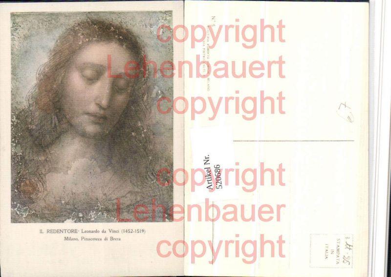 Künstler AK Leonardo da Vinci Il Redentore Portrait
