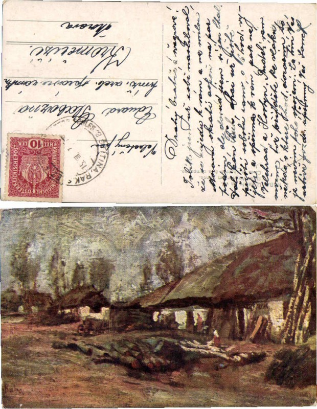 43607;Beim Wagner am Lande sign L. Kuba