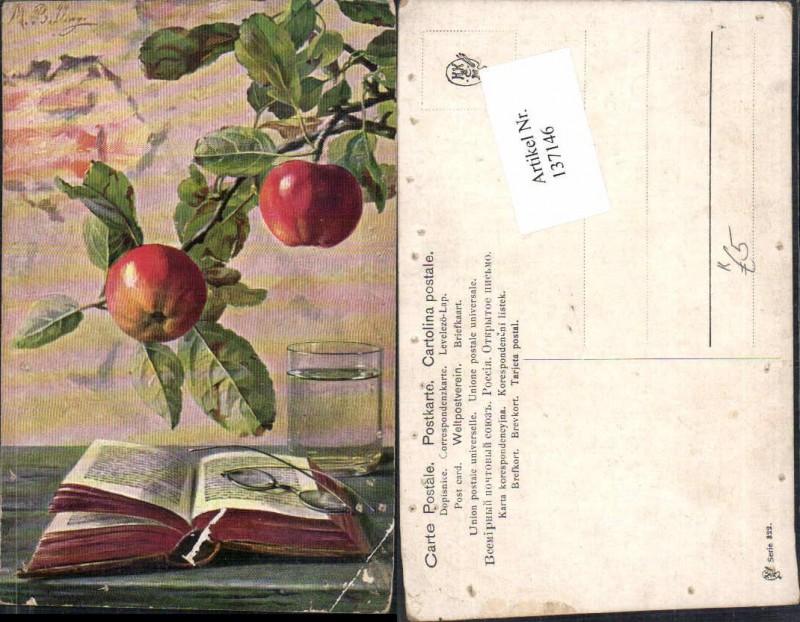 M. Billing Apfel Äpfel Buch Brille