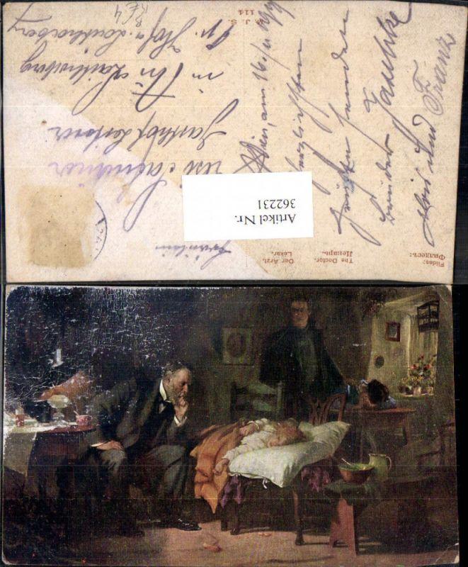 Künstler Ak Fildes Der Arzt Berufe Medizin