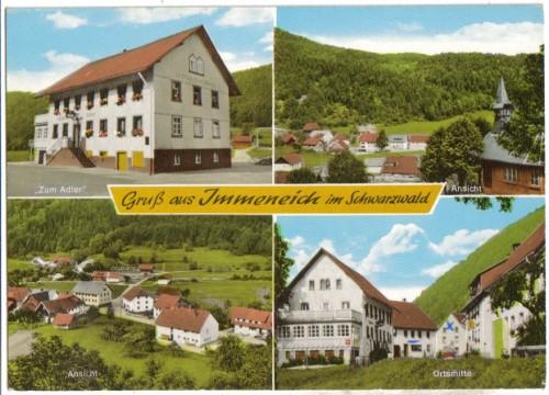 7684;Gasthaus Z. Adler Immeneich St Blasien FARBE
