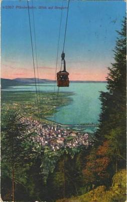 19586;Pfänderbahn Bregenz Bodensee COLOR 1924