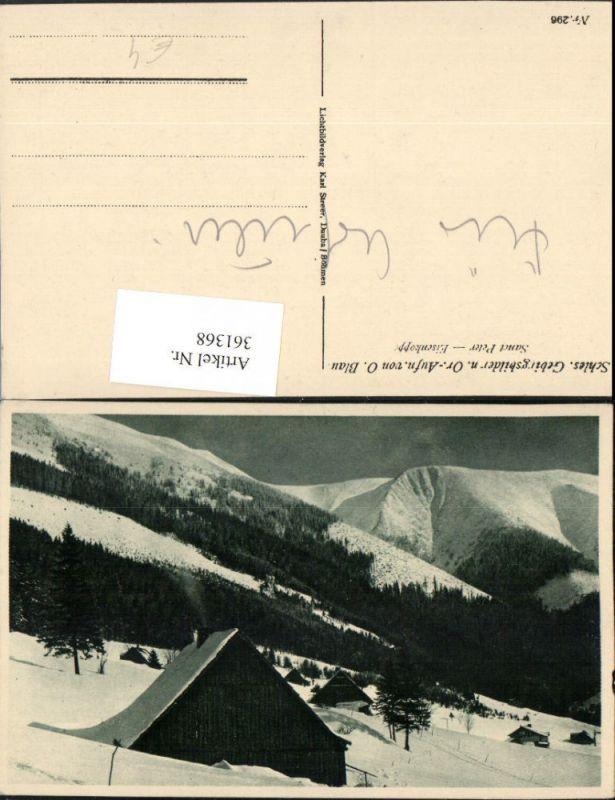 Sanct Peter Eisenkoppe b. Spindleruv Mlyn Spindlermühle Bergkulisse Winte