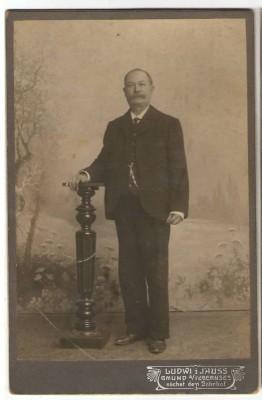 23146;CDV Foto Portrait Mann Gmund am Tegernsee 1890