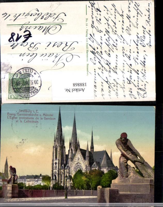 Frankreich Strassburg i. E. Evang. Garnisonskirche Kirche u. Münster Legl