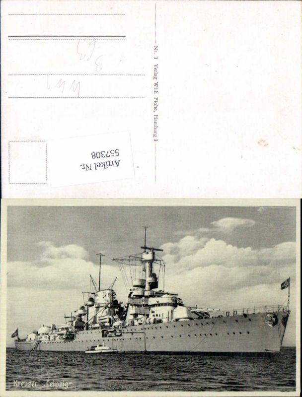 Kriegsmarine Marine Kreuzer Leipzig Kriegsschiff