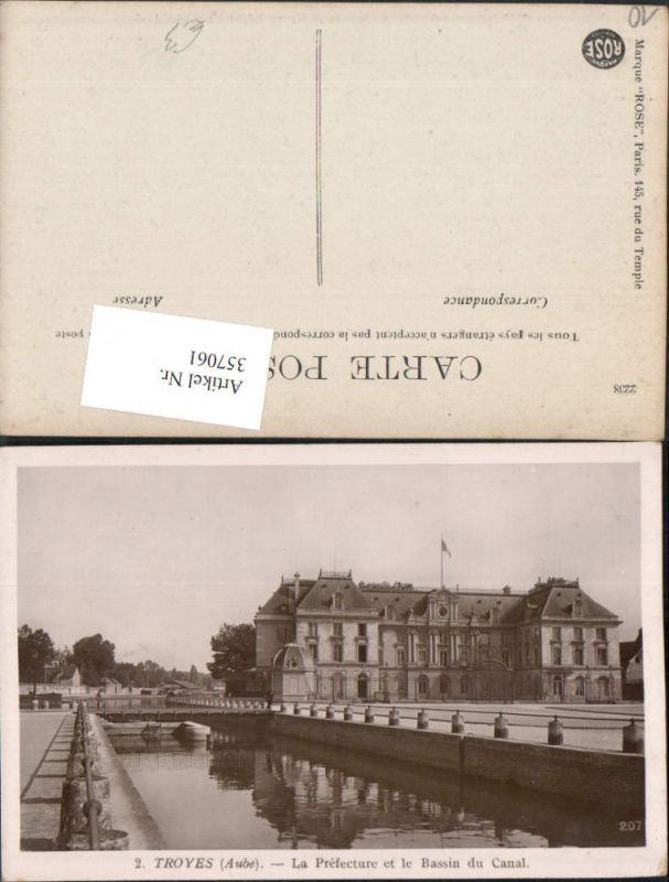 Champagne-Ardenne Aube Troyes La Prefecture et le Bassin du Canal Kanal