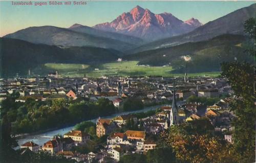 26694;Innsbruck gegen Süden Serles COLOR