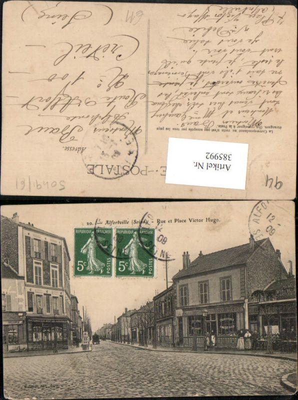 Ile-de-France Val-de-Marne Alfortville Rue et Place Victor Hugo Straßenan