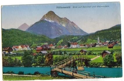 2811;Mittenwald Blick auf Bahnhof COLOR 1921*