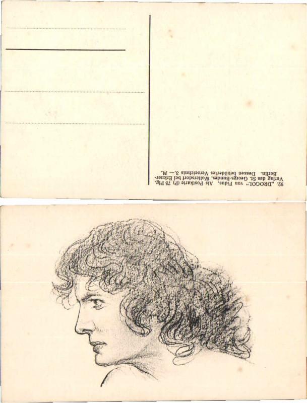 55347;Fidus Drogol Postkarte Portrait