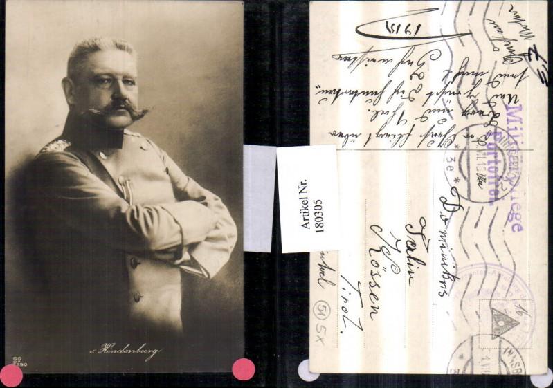 Von Hindenburg Portrait