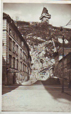 19055;Graz Partie zum Schlossberg Steig