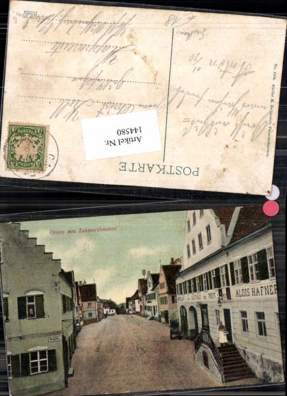 Gruss aus Zusmarshausen Gasthaus zur Post Hafner