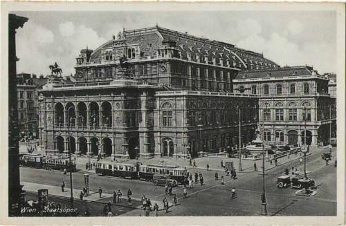 24112;Wien Staatsoper Oldtimer Strassenbahn
