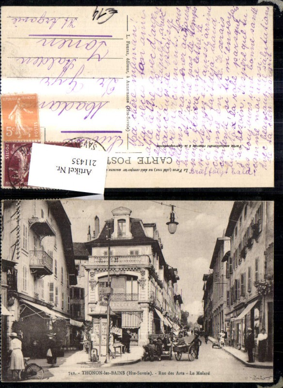 Thonon les Bains Rue de Arts Le Molard Personen Automobil