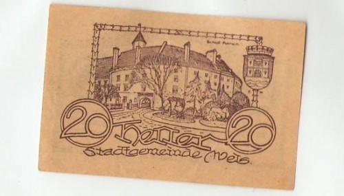 16894;Notgeld Wels 20 Heller