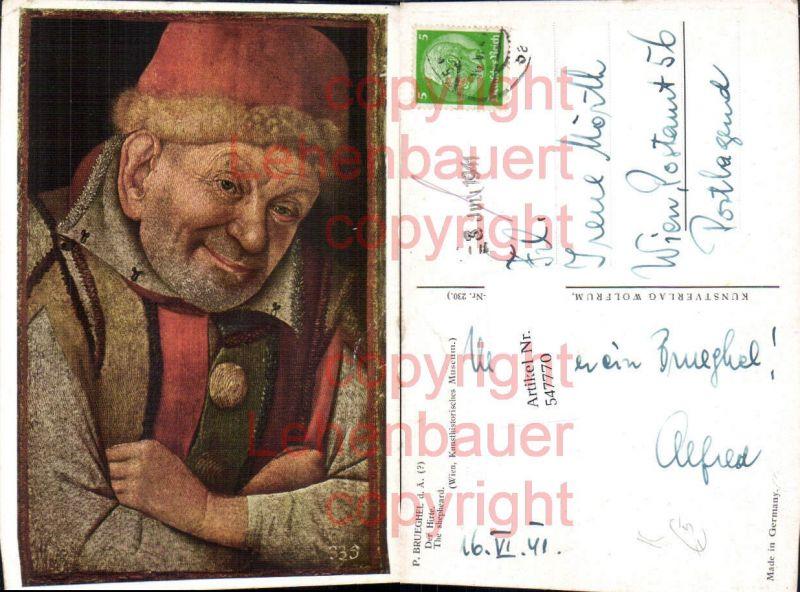 Künstler AK P. Brueghel Der Hirte
