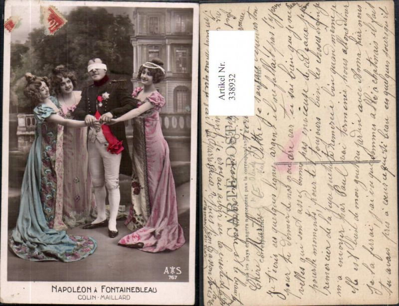 Napoleon a Fontainebleau Colin Maillard Frauen Blinde Kuh Adel Theater