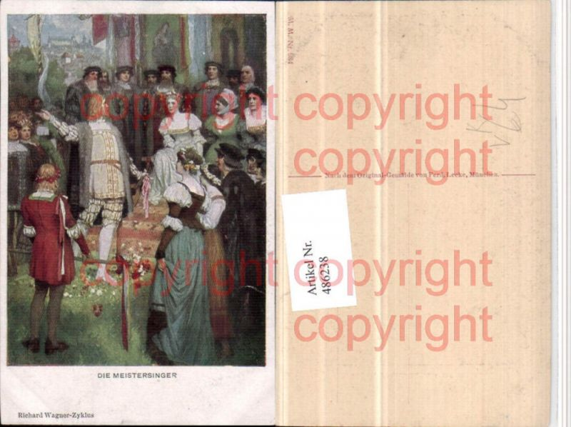 M. Munk Vienne 984 Künstler Ferd. Leeke Meistersinger Richard Wagner