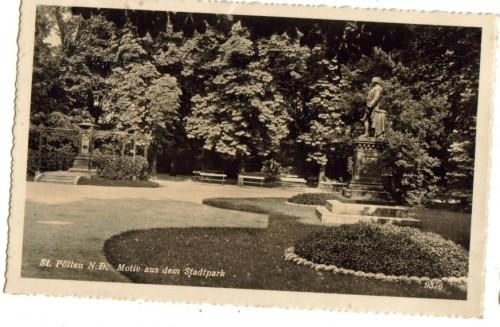 10476;St Pölten Motiv Stadtpark 1940