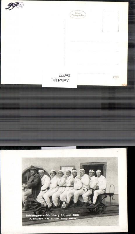Bergbau Salzbergwerk Dürrnberg b. Hallein Gruppenfoto 15. Juli 1937
