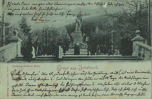 25955;Mond Litho Innsbruck Andreas Hofer Denkmal 1898