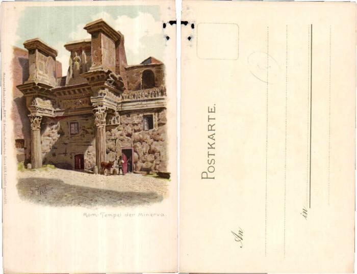 Rom Roma Tempel Minerva sign G. Gioja pub Meissner & Bu