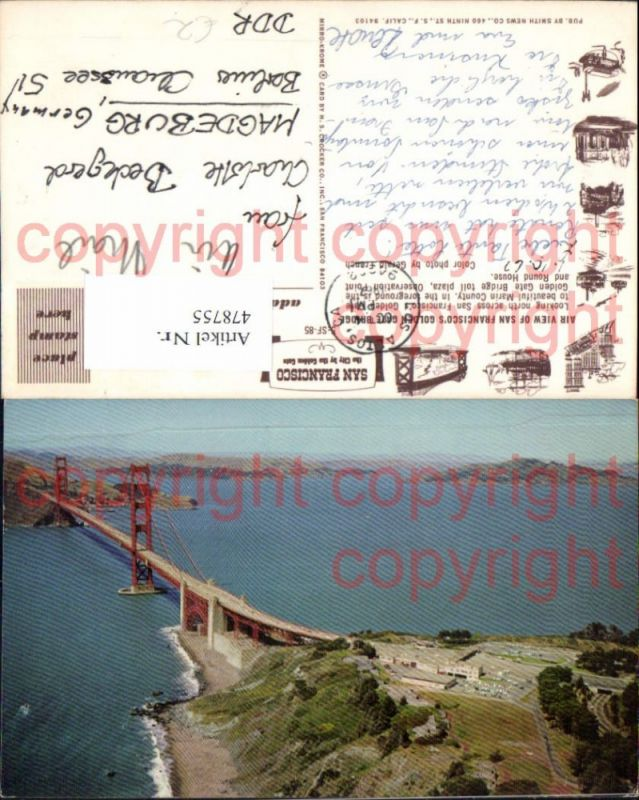 Brücke San Francisco Golden Gate Bridge