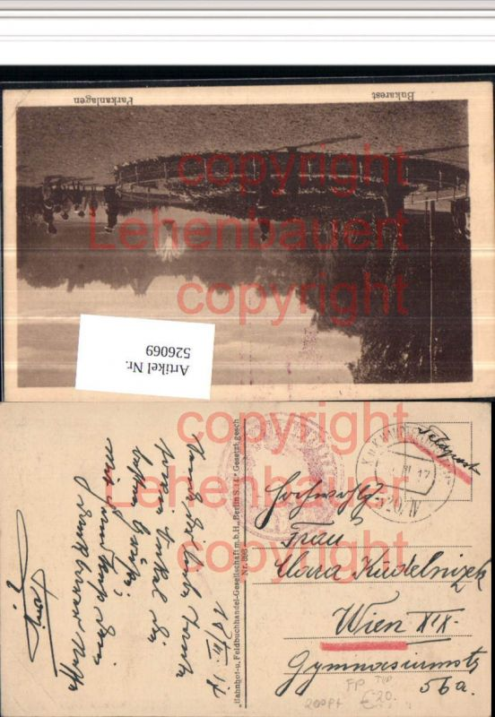 K.k. Feldpost Hauptfeldpostamt 520/IV 200 Pt. Rainer Katalog Bukarest
