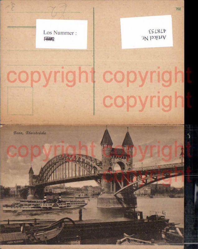 Brücke Bonn Rheinbrücke Dampfer Schiff