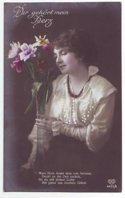 30070;EAS 4455/6 Dir gehört mein Herz Frau m. Blumen