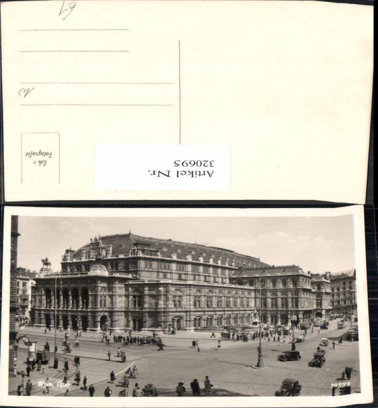 Foto Ak Wien Oper Staatsoper Automobile Oldtimer