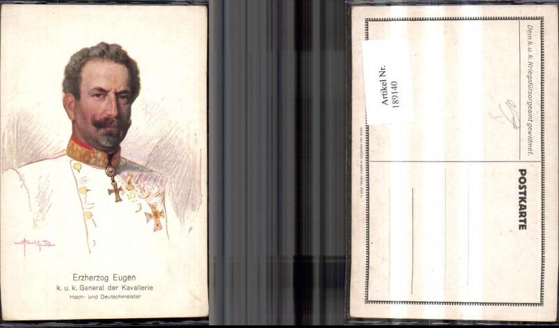 Künstler Ak O. Brüch Erzherzog Eugen K u k General d. Kavallerie Hoch u.
