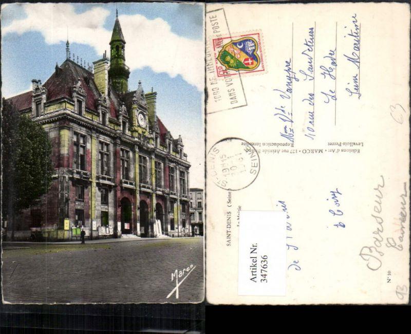 Ile-de-France Seine-Saint-Denis Saint-Denis La Mairie Rathaus