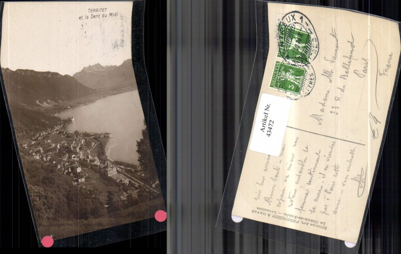 territet et la Dent du Midi Dorf an See Eisenbahn Schienen 1914 Kt Wallis