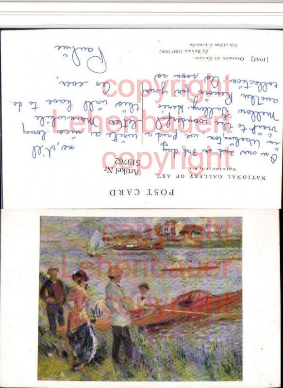 Künstler AK Renoir Oarsmen at Chatou Personen Ruderboot