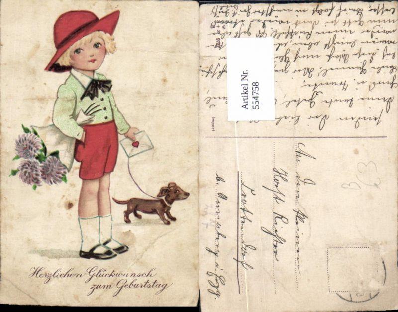 Geburtstag Dackel Hund Madchen Hut Nr 554758 Oldthing