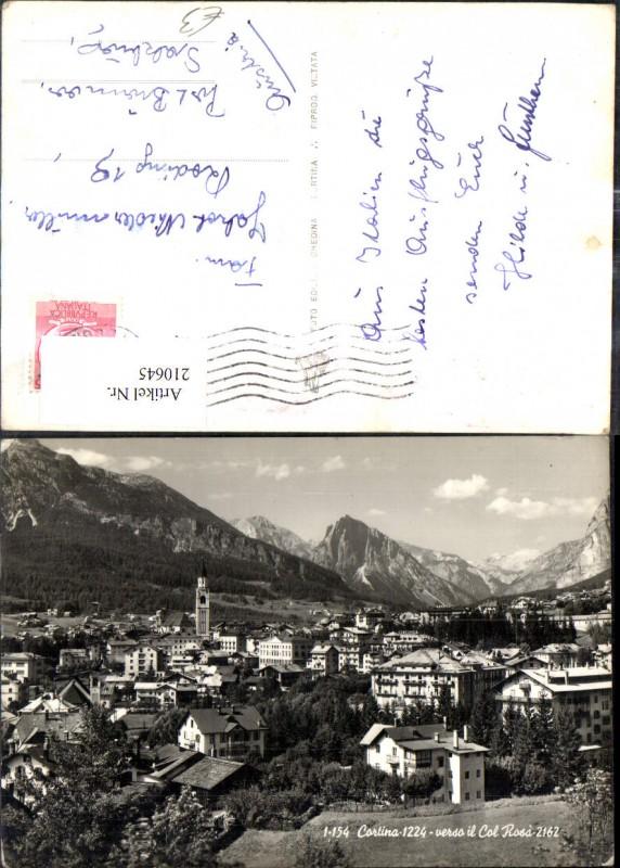 Trentino Cortina verso il Col Rosa Totale