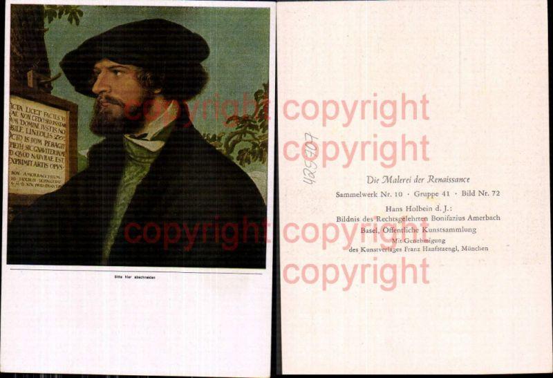 Künstler Ak Hans Holbein d. Jüngere Bildnis d. Rechtsgelehrten Bonifazius