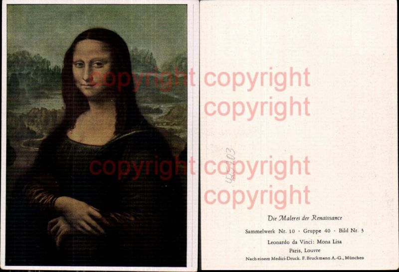 Künstler Ak Leonardo da Vinci Mona Lisa Portrait Renaissance