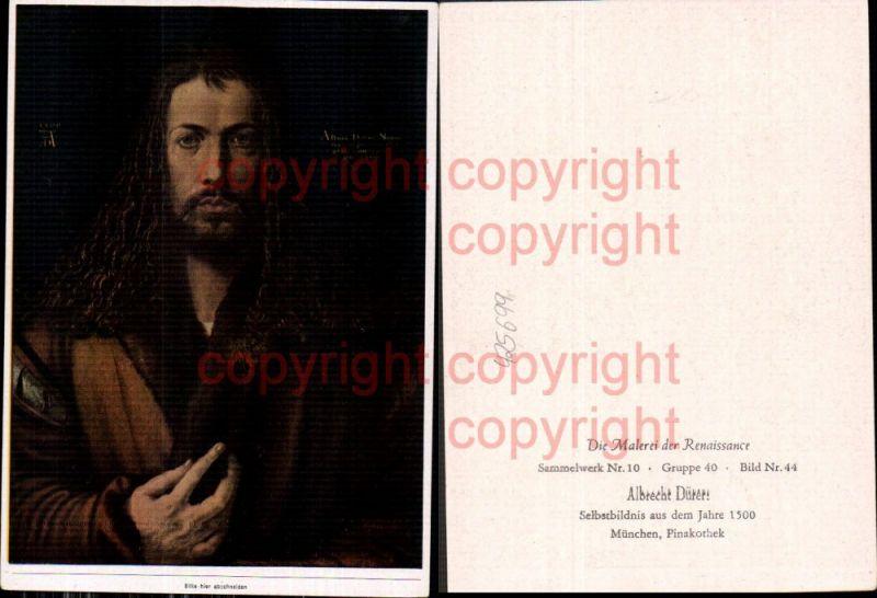 Künstler Ak Albrecht Dürer Selbstbildnis aus dem Jahre 1500 Renaissance