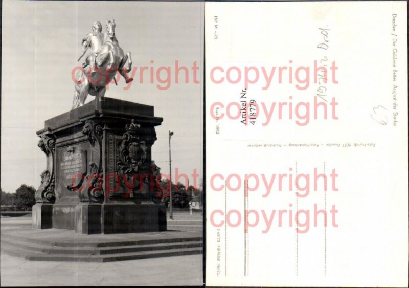 Foto Ak Dresden Der Goldene Reiter August der Starke Statue Monument